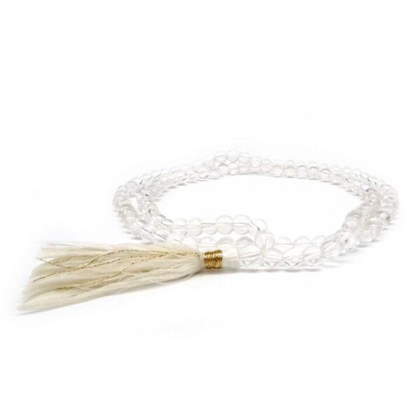 clear quartz mala necklace at surrendertohappiness.com
