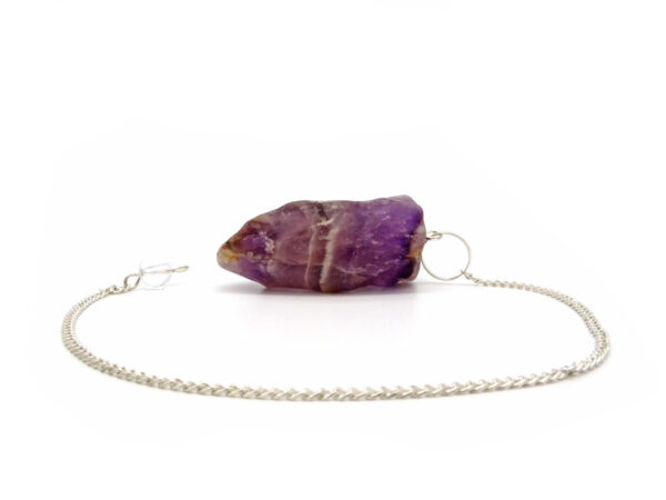 amethyst rough pendulum
