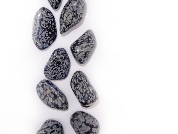 snowflake obsidian tumblestone at surrendertohappiness.com