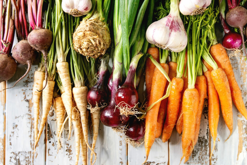 root vegetables for grounding
