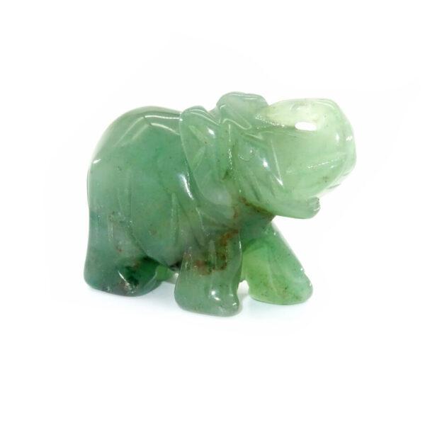 green jade gemstone elephant