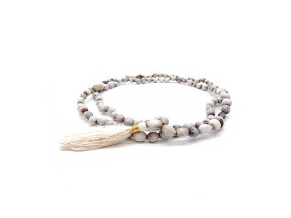 lotus bead mala necklace at surrendertohappiness.com