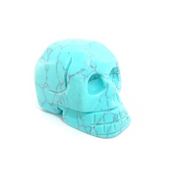 turquoise gemstone skull at surrendertohappiness.com