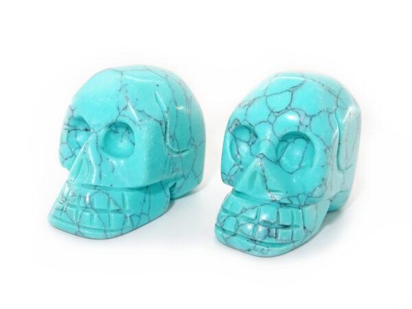 turquoise gemstone skull at surrendertohappiness.com