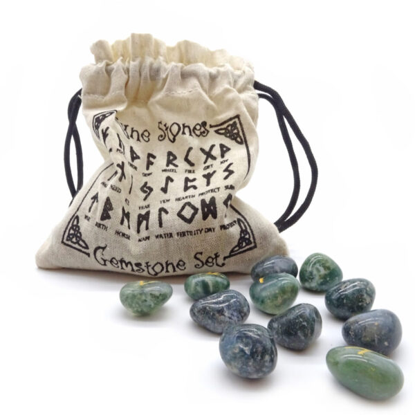 moss agate rune stones at surrendertohappiness.com