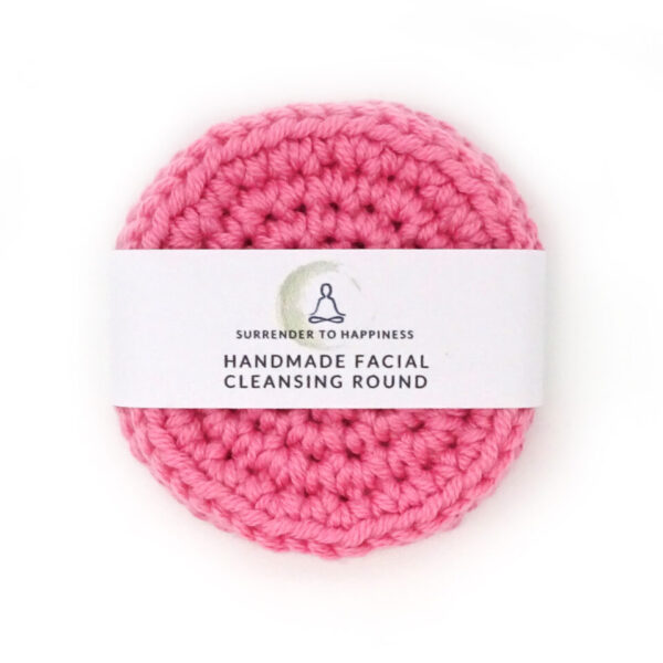 pink handmade cleansing rounds at surrendertohappiness.com