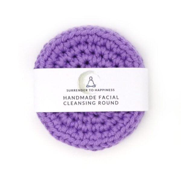 purple handmade cleansing rounds at surrendertohappiness.com