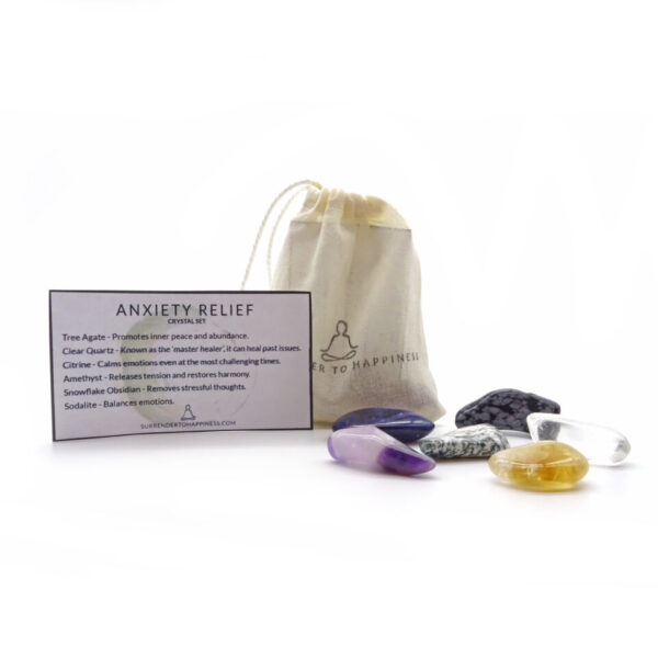 anxiety relief crystal set at surrendertohappiness.com