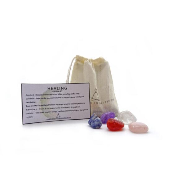 healing crystal set at surrendertohappiness.com