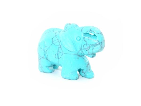 turquoise gemstone elephant at surrendertohappiness.com