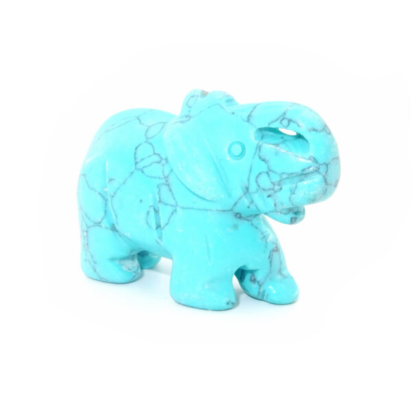 turquoise gemstone elephant at surrendertohappiness.com