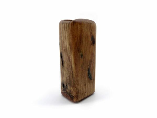 reclaimed wood crystal holder