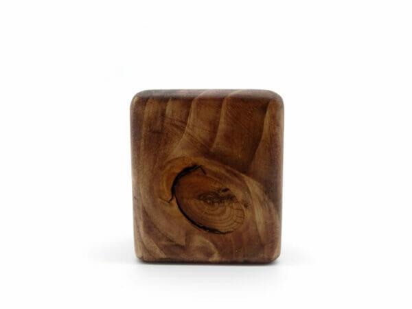 wooden crystal holder